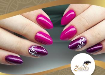 Studio Urody Zalotka - korekta paznokci żelowych po innej stylistce + kolor + zdobienia