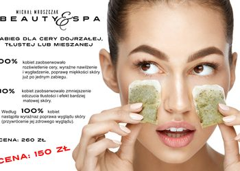 Salony fryzjerskie MICHAŁ MROSZCZAK Beauty&SPA - zabieg - tea therapy - terapia zieloną herbatą