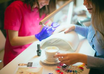 AnnEstetic - żel manicure przedłużenie na szablonie ze ściągnięciem żel