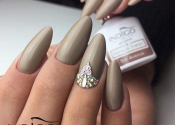 KOKA nails - przedłużanie żelem na formie + kolor