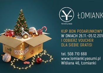 Yasumi Łomianki -  świąteczny bon podarunkowy + voucher gratis