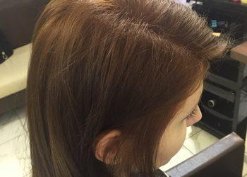 TopHair - dekoloryzacja+kolor włosów średnich