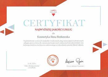 Certyfikat jakoci dla salonu kosmetycznego ostrowiec witokrzyski