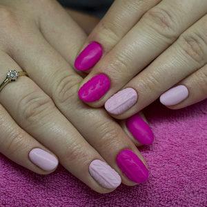 Angel Salon Kosmetyczny - Manicure hybrydowy ze zdjęciem poprzedniej hybrydy