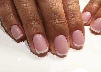 A&J Beauty Studio  - manicure hybrydowy french + wzm. płytki