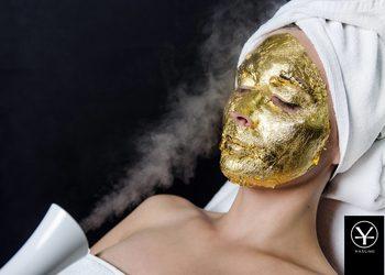 YASUMI SPA - złota maska - 24k gold mask treatment |  twarz i szyja/dekolt (4 płatki 24k złota, 72mg) - wersja premium