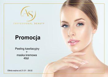 Salon Urody AS Professional Beauty - peeling kawitacyjny + maska kremowa