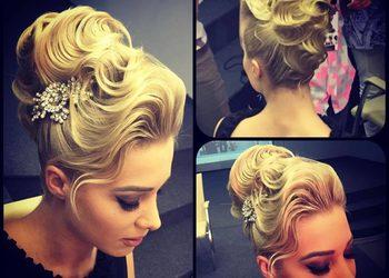 Salon fryzjerski kosmetyczny She & He - fryzura ślubna
