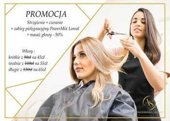 Salon Urody AS Professional Beauty - strzyżenie damskie + zabieg pielęgnacyjny powermix