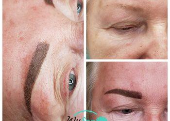Wyspa Piękna - makijaż permanentny brwi ombre / puder