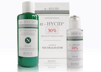 KLUB PIĘKNA Gabinet Kosmetyczny  - terapia ziołowa medex – peeling z żelem α - hycid 30% i 40%