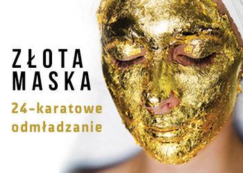 YASUMI SOSNOWIEC - złota maska – 24k gold mask twarz