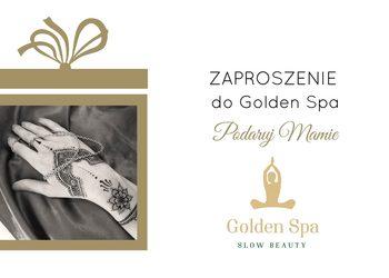 Golden Spa - zaproszenie - orientalna podróż