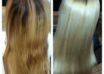 Fabryka Fryzur - dekoloryzacja włosów + nowy kolor + olaplex + strzyżenie