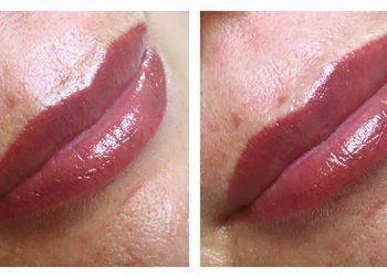 Studio Urody Ladida  - makijaż permanentny ust - kontur z cieniem