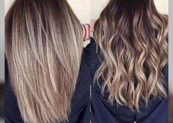 Beauty Salon Matrioshka  - farba + pasemka długie włosy