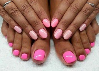 Mania - manicure + pedicure hybrydowy