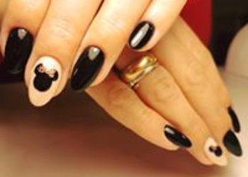 Turkusowe Cążki - manicure hybryda ze zdjęciem