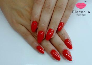 Piękna Ja Indigo Nailsalon - założenie paznokci żelowych z przedłużeniem jeden kolor