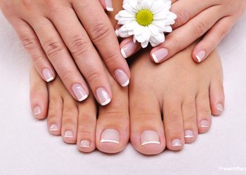 Aden Salon - pedicure hybrydowy french