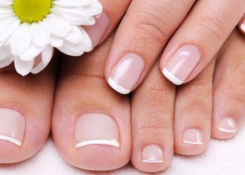 Royal Vital Sienna 93 - malowanie paznokci u stóp lakierem hybrydowym french