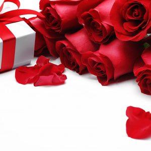 250747 czerwone roze platki prezent