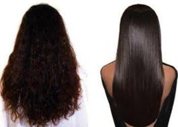 Salony fryzjerskie O'la - keratynowe prostowanie włosy średnie