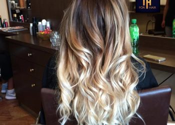Salon fryzjerski For Hair - koloryzacja z sombre.