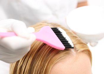 Salon Fryzjerski CLAIR DE LUNE - koloryzacja klasyczna - włosy średnie ( odrost )