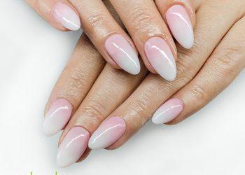 Salon V&K Cosmetic - manicure tytanowy babyboomer/ ombre
