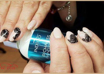 Hair and Beauty ETHERIA - paznokcie żelowe - przedłużanie plus hybryda plus wzory