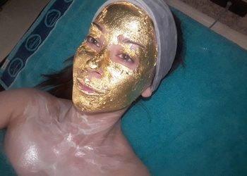 Instytut Urody Masumi - twarz  szyja dekolt gold glam 24 k mask