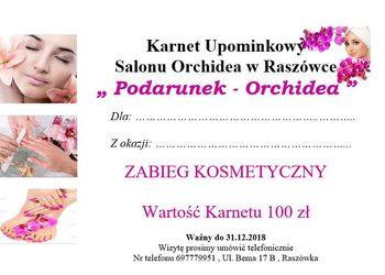 Salon Urody Orchidea - karnet upominkowy