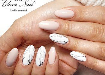 Glam Nail - manicure frezarkowy + hybryda zdobienia