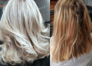 Magia Blondu Danuta Cyboroń - korekta koloru  (metamorfoza )+cięcie+modelowanie