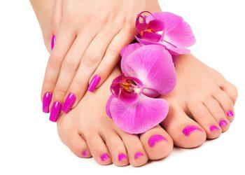 AnnEstetic - ściągnięcie hybrydy z opracowaniem paznokci u stóp