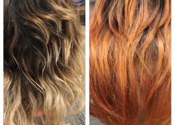 Jadeit - farbowanie  na kolor jednolity (włosy krótkie)