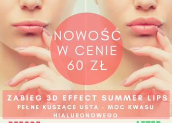 Studio Kosmetyczne URODOMANIA - zabieg na usta 3d effect pełne kuszące usta - moc kwasu hialuronowego