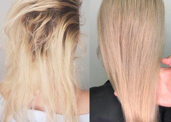 Salony Stylu Wrocław - łamliwe włosy (zabieg podstawowy) + modelowanie