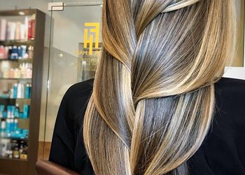 Salon fryzjerski For Hair - koloryzacja sombre tropical.